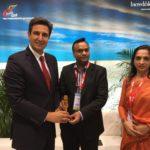 Συνάντηση του Γ.Γ. ΕΟΤ με τον Υπουργό Τουρισμού της Καρνατάκα της  Ινδίας στο περιθώριο της Διεθνούς  Έκθεσης Τουρισμού ΙFTM-TOP RESA