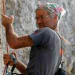 Famous Swiss climber Claude Remy at the presentation of ''KAVOMALIAS – ZOBOLO'' climbing park at Ag.Nikolaos Vion – Monemvasia Municipality