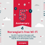 Norwegian reveal Europe's sky-high surfing habits as it marks five years of inflight Wi-Fi