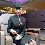 Qatar Airways Debuts New A380 First Class Seats at #ITBBerlin