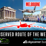 "Athens-Melbourne is ""Skyscanner Unserved Route of the Week"" 260,000 searches last year"