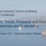 """Διεθνές Συνέδριο """"Τουρισμός: Τάσεις, Προοπτικές και Επιπτώσεις στις Επιχειρήσεις και τους Προορισμούς"""""""